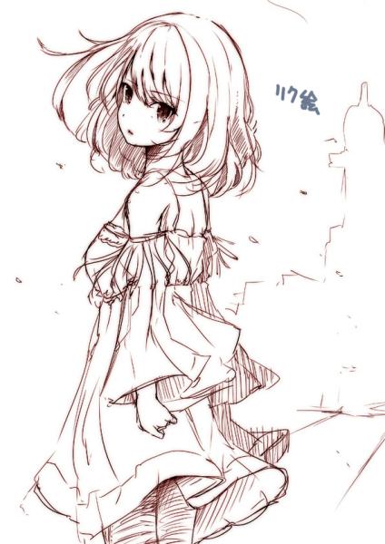 怎么画动漫女孩的衣服?图片