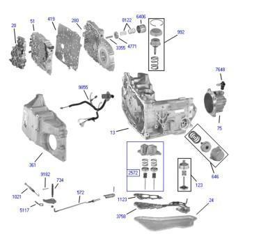 谁有别克商务gl8自动变速箱详细分解图?图片