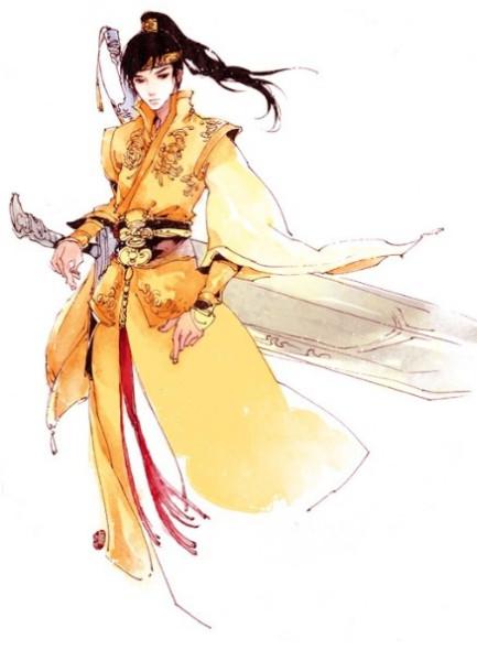 求金衣或红衣的古风女子(男子也可以)图片图片