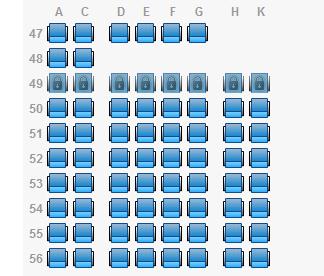 南航空客333 经济舱网上选座位图片