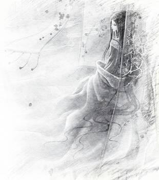古代漫画美少女素描图片手绘百