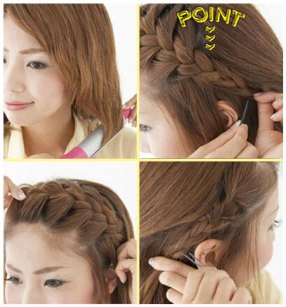 女中学生短发发型怎么扎好看图片