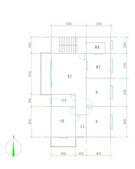 农村四间楼房设计图图片
