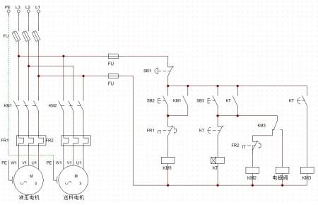 谁能帮我设置这个液压电路控制图啊!大侠们救命啊!图片