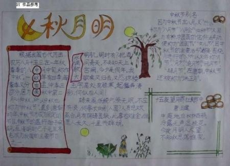 中秋节的手抄报的格式,不能要内容,画的要简单,有请发张图 百度