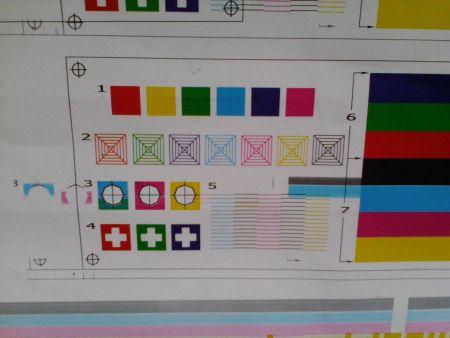 乐彩750写真机测试打印是出现重影,求解