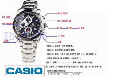 我刚买了只卡西欧的手表型号是ef-524昨天晚上7点时候调时间不小心把