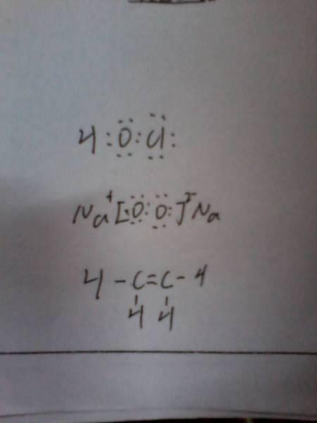 求hclo,过氧化氢的电子式.以及c2h4的结构式.多谢!图片