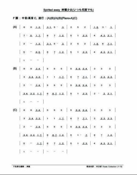 关于用24孔c调复音口琴能否吹《永远同在》(千与千寻的片尾曲)?图片