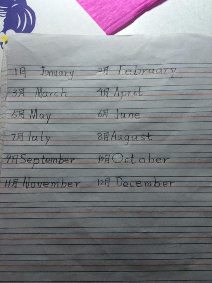 1月至12月英语单词怎么读图片