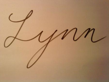 lynn英文名的好看的写法图片