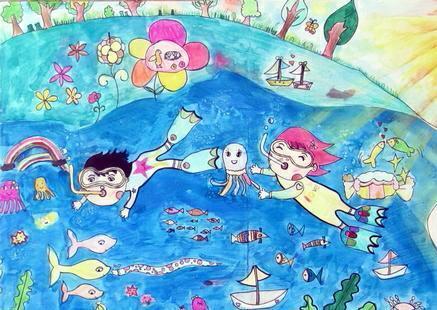 """""""我爱海洋""""4k纸图画 长:500px;高:375px;大小:62;类型:图片"""
