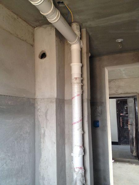 初步想把下水管包立柱,之后该怎么办?请各路大神帮忙.图片