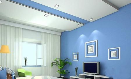 淡蓝色的墙纸背景应该用什么颜色的窗帘