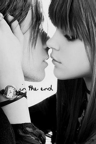 非主流qq接吻_非主流情侣头像 代字 有意境唯美.