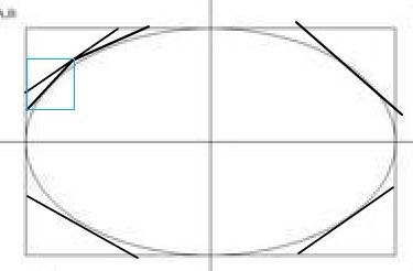可以切的,不管是圆还是椭圆,椭圆的话可以先画一个长方形,取四边中点图片