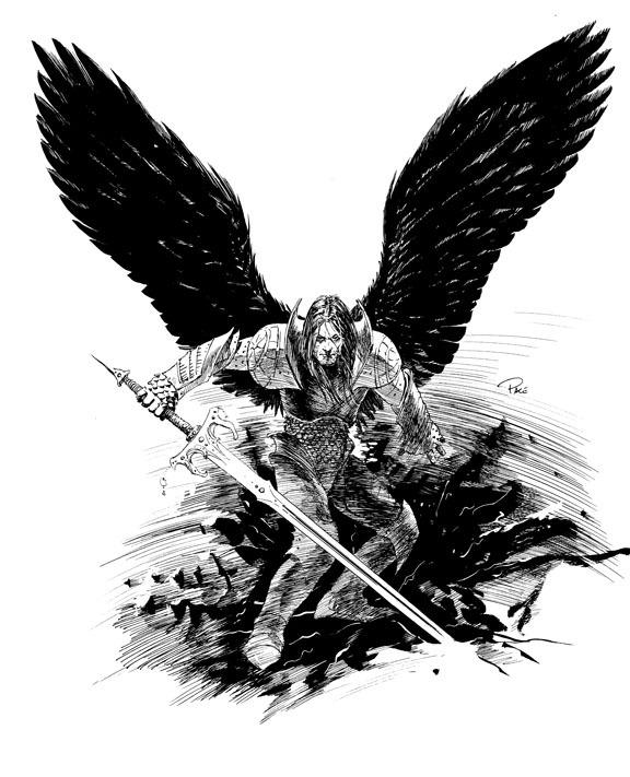 六翼天使纹身男头像图片