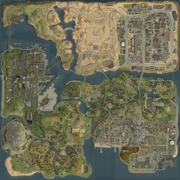 GTA SA的地图图片