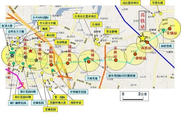 无锡地铁二号线 查桥站的位置图片