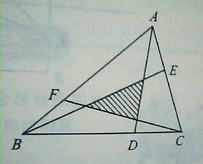 ... 三等分点,求阴影三角形的面积