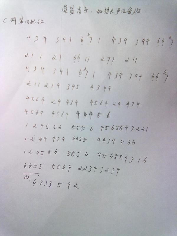 尾曲的半音阶口琴谱图片