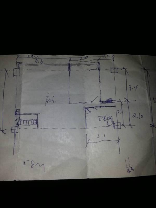 装修的人员,帮忙设计一下这平面图,可以楼上做隔楼,上面为卧室高清图片