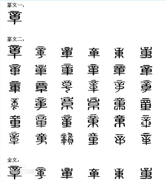 鑫字的金文和甲骨文图片