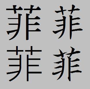 菲的繁体字笔画数