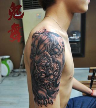 招财神兽   貔貅纹身图案大全   手臂神兽   貔貅纹身图案高清图片