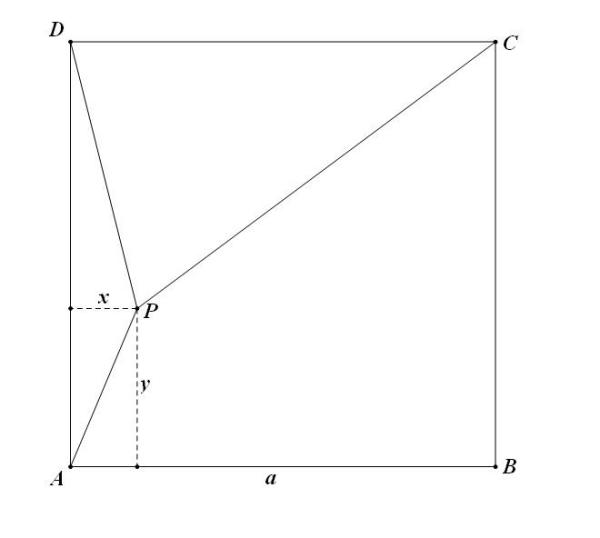 P为正方形ABCD内的一点 PA=5 PD=8