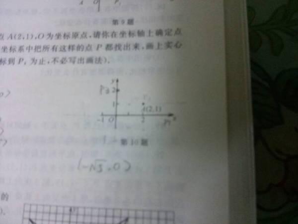 想加上一点p使三角形oap是等腰三角形 为什么其中有一个可以是 5,0