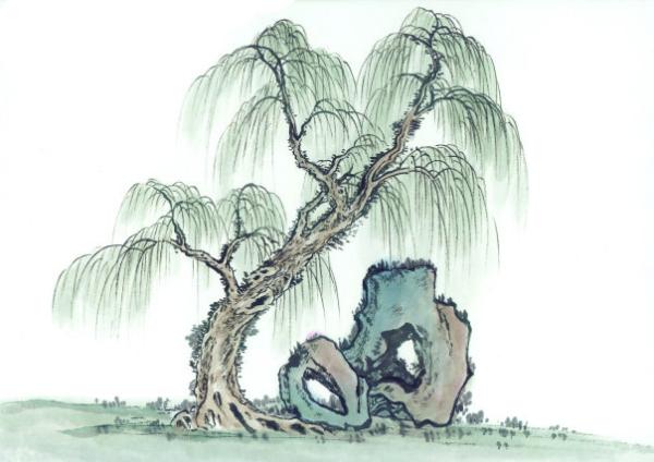 急求有意境的古风柳树图片