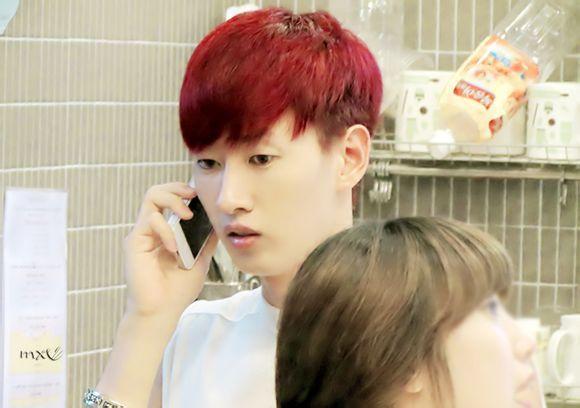 银赫发型设计-谁有李赫宰这样的头发但是是红毛的图,要高清的,不要演唱会的,