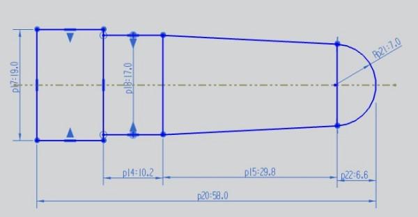 数控车的简单编程程序 粗车φ20x60的毛坯 最