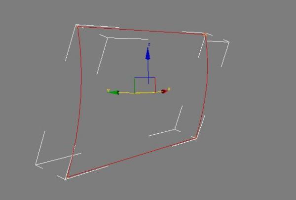 3dmax中一个三维的闭合曲线使用倒角剖面后出现扭曲图片