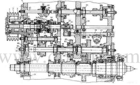 铣床的主轴结构_大连第二机床厂我cw6163主轴装配图 ...