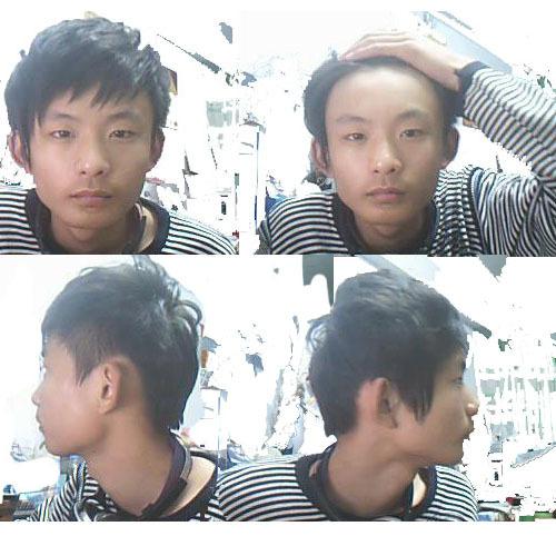 男生发型问题图片