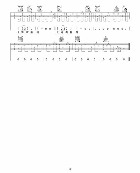 南山南吉他谱原版