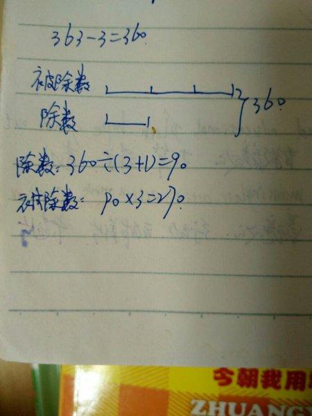 在一道除法算式中被除数,除数和商,3个数的和是363,商图片