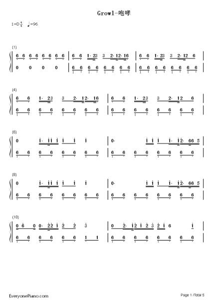 求exo的歌曲钢琴 数字简谱图片