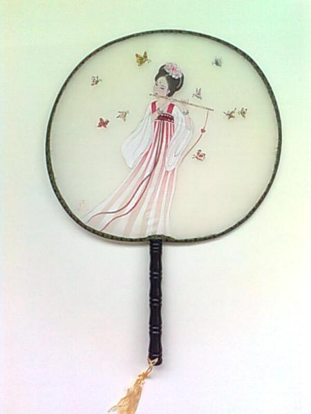 圆扇子画儿童画简单分享展示图片