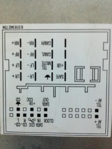 车载cd机接线图.有高人知道咋接线的吗 那个是电源接线头 高清图片