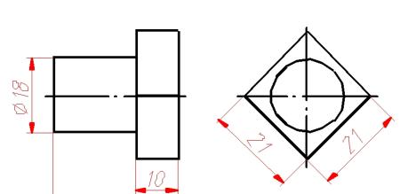 为什么要标右边那个正方形2条边 而不是标左边的对角线的长度?图片