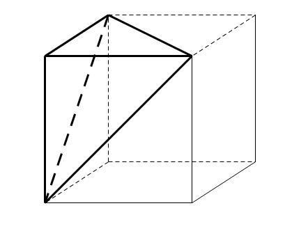 正三菱锥的地面边长为2 侧面均为直角三角形 则此三棱锥的体积为图片