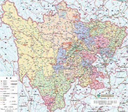 d四川与重庆,陕西,甘肃,青海,云南,贵州和西藏自治区接壤