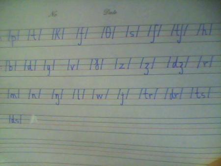 英语辅音怎样占四线格?图片