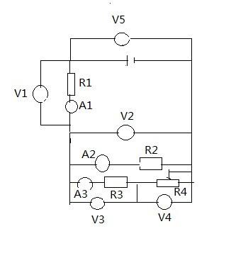 v是电压表a是电流表r是次品r4是滑动变阻器问滑动找电阻冀教版六年级说课稿图片