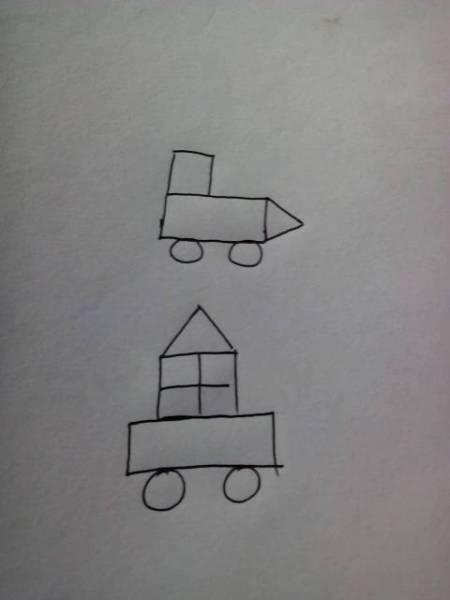 用几个长方形,正方形,三角形图片