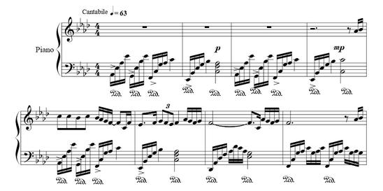 c大调钢琴琶音指法图分享展示图片