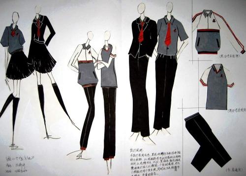 初中探究性课程:校服设计看法图片